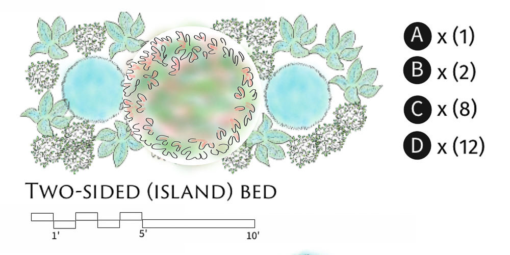 Two side island bed